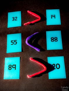 Idea: Use pipe cleaners and number cards to teach place value in a math center. Find more ideas too!  data-pin-id=