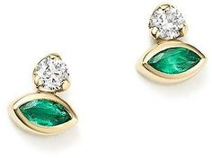 Zoë Chicco 14K Yellow Gold Diamond & Gemfields Emerald Marquise Stud Earrings. Emerald Jewelry. I'm an affiliate marketer. When you click on a link or buy from the retailer, I earn a commission.