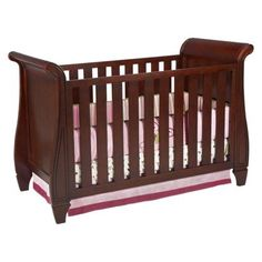 Slumber Time by Simmons Kids Hutton Sleigh Crib – Chestnut -  Click image twice for more info - see a larger selection of  Baby  crib and nursery bed at   http://zbabybaby.com/category/baby-categories/baby-nursery/baby-crib-and-nursery-bed/ - gift ideas, baby , baby shower gift ideas , nursery . « zBabyBaby.com