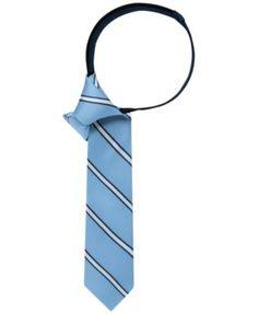 Tommy Hilfiger Boys' Repp Stripe Zipper Tie