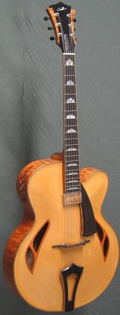 Christophe Grellier Metropolis Archtop #LardysChordophoneOfTheDay #Guitar ~ https://www.pinterest.com/lardyfatboy/lardys-other-fretted-chordophones-of-the-day/ ~