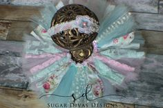Newborn tutu set, Garden Tea tutu, Vintage Shabby Chic Pink Mint Tutu set, pink aqua birthday, newborn photo props, lace fabric tutu set by SugarDivasDesigns on Etsy