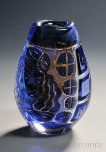 Edvin Ohrstrom Designed Orrefors Ariel Vase