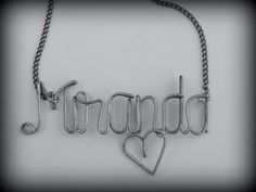 Wire Name Necklace Handmade Personalized and by ladyface25 on Etsy, $16.25
