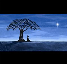 """""""Better than a thousand hollow words, is one word that brings peace.""""~ Buddha  Tags: ॐ Blue Buddha Quote Collective"""