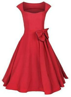50's style red dress, rockabilly dress, vintage bridesmaid dress, lindy hop, swing dress
