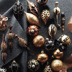 60-pc. Golden Jewel Ornament Collection