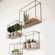 Metal Wall Shelf Group (Set-4)