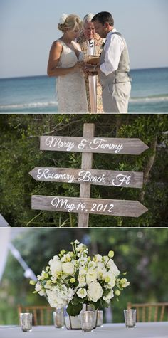 Rosemary Beach Wedding from Dede Edwards   Style Me Pretty FL    Event Planning: It's a Shore Thing / Floral + Event Design: Celestine's Special Occasions