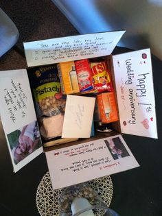 1000 Images About Anniversary Care Package On Pinterest