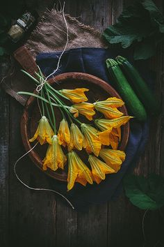 Zucchini & Ricotta Stuffed Squash Blossoms | Adventures in Cooking by Eva Kosmas Flores, via Flickr
