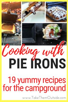19 fun and tasty campfire pie iron recipes for your next meal at the campground.  You'll find some for breakfast, dinner, and dessert.  #pieiron #campfirerecipe #campingrecipes