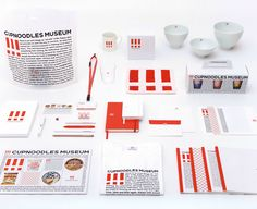 Cup Noodle Museum Identity designed by Kashiwa Sato
