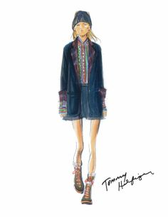 Tommy Hilfiger Fall/Winter 2014/15 Women's Collection - Sketch - http://olschis-world.de/  #TommyHilfiger #Sketch #FW14