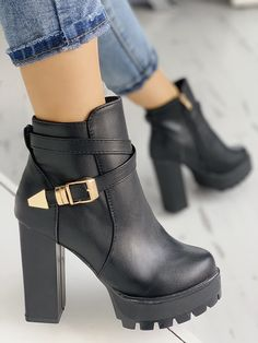 Shop Back Ladder Cutout Knee-high Stiletto Boots right now, get great deals at Chiquedoll Knee High Stiletto Boots, Chunky High Heels, High Heel Boots, Heeled Boots, Stiletto Heels, Shoe Boots, Ankle Boots, Studded Heels, Lace Up Heels