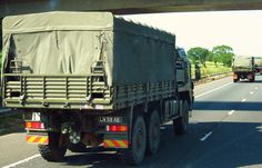Army MAN truck convoy June 2014