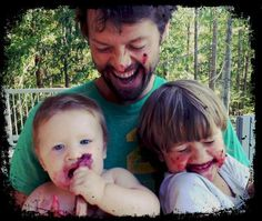 Misha, Maison, and West Collins. This will always be my favorite picture of Misha, ever.