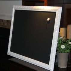 Large Ornate Magnetic White Chalkboard 25 1/2 x 31 by PoshPilfer, $65.00