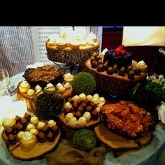 Outdoor Fall Wedding Ideas | Dessert table at outdoor fall wedding I recently attended