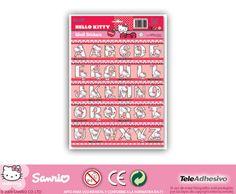 Adesivi per bambini: Hello Kitty lettere. Adesivi murali bambini a kit abc. #adesivimurali #decorazione #modelli #mosaico #abc #hellokitty #StickersMurali