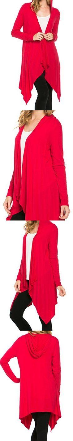 Sweaters 50993: 2Luv Women S Hooded Long Sleeve Open Front Knit Cardigan Red S, New -> BUY IT NOW ONLY: $33.34 on eBay!