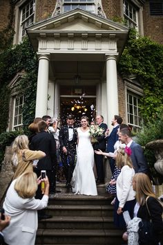 71cba92d522e A Chic Pronovias Gown for a Black Tie and Botanical Inspired Hampton Court  House Wedding