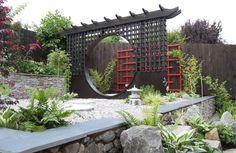 Build A Japanese Garden Japanese Rock Garden Rake Build A Japanese Japanese Garden Backyard, Small Japanese Garden, Japanese Garden Design, Chinese Garden, Small Garden Design, Lush Garden, Japanese Style, Japanese Gardens, Garden Plants