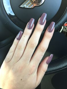 Mauve Square nails