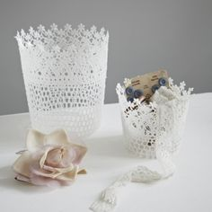 White Lace Pots | Home Accessories | House & Home | House & Home | rigby & mac
