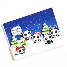 Stamps: Christmas Panda Plushies, Saying Stuff Christmas Panda, Merry Christmas, Clear Stamps, Plushies, Wooden Toys, Inspiration, Merry Little Christmas, Wooden Toy Plans, Biblical Inspiration