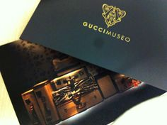 The super-stylish invite to the opening of the Gucci Museo exhibition & pop-up shop at Paragon shopping mall in Singapore ...