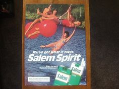 "Salem cigarettes Vintage Magazine Ad Print ""Happy People"" Great vintage cigarette and tobacco ads $2.99"
