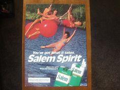 "Salem cigarettes Vintage Magazine Ad Print ""Happy People"" Great vintage cigarette and tobacco ads $2.99"