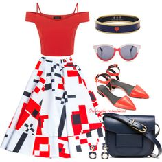 Red Top & Shoes by oribeauty-cosmeticos on Polyvore featuring moda, Alexander Wang, Tory Burch, Halcyon Days and Preen