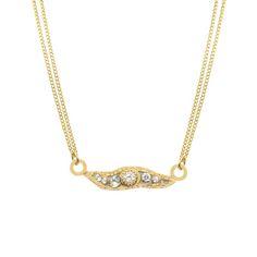 Hand Made jewelry from MICHAL GOLAN studio NYC on sale Trendy Bar, Semi Annual Sale, Bar Necklace, Swarovski Crystals, Jewelry Making, Nyc, Brass, Studio, Pendant
