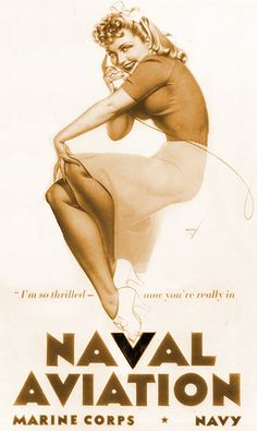 Naval Aviation Poster, 1942 | George Petty pinup #pinupartsource #pinup