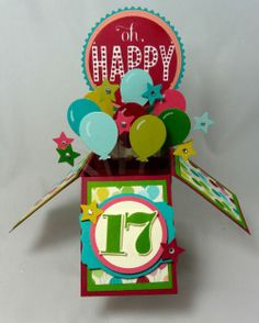 Happy 17th Card in a Box