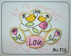 Love the roses and the stitching on these cookies!  Pic only from FCS.