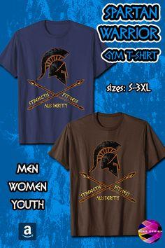 Spartan Warrior T-Shirt Fitness Strenght Gym Shirt Gym Shirts, Workout Shirts, Cool Tees, Cool T Shirts, Spartan Warrior, Warriors T Shirt, Branded T Shirts, Streetwear, Greece