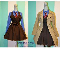 David Tennets Dr. Who outfit for girls. I want it!!!