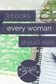 "3 books every woman should read. I use the word ""should"" very, very sparingly when I talk about reading. But these books will change your life."