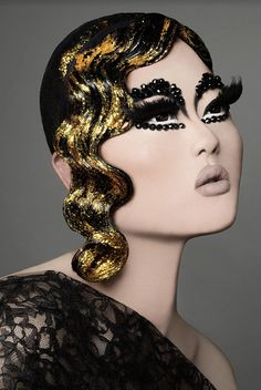 Kim Chi: Photo by Adam Ouahmane. This queen's looks are Ah-maz-ing! Drag Queen Make-up, Rupaul Drag Queen, Makeup Drag, Hair Makeup, Asian Drag Queen Makeup, Eye Makeup, Makeup Inspo, Makeup Inspiration, Kim Chi Drag