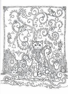 Creative Cats Coloring Book by Marjorie Sarnat @ Dover Publications
