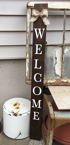 Charmant Welcome Front Porch Sign, Welcome Wooden Sign, Welcome Veritcal Sign,  Pallet Sign,