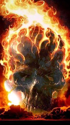 Fire Skulls Live Wallpaper- screenshot