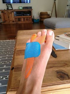 KT Tape Pro for broken toes. Since I break my toes all the damn time