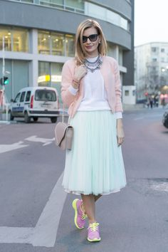 Pastel Evening On The Streets of Bucharest Street Style Bucharest. Street Fashion Bucharest.