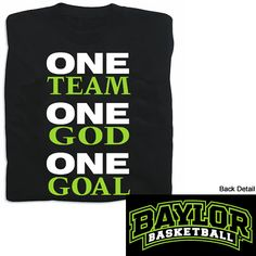 Product: One Team, One Goal Baylor Men's Basketball T-Shirt
