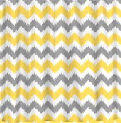 Custom IKAT Chevron Shower Curtain - 3 color combo - any color. $68.00, via Etsy.