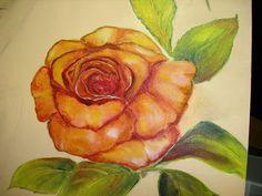 La pittrice Angela Cerqueti al lavoro... un particolare del quadro che si vede nel pin precedente...